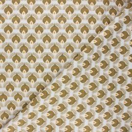 Linen and viscose fabric by Penelope® - khaki Thya x 10 cm