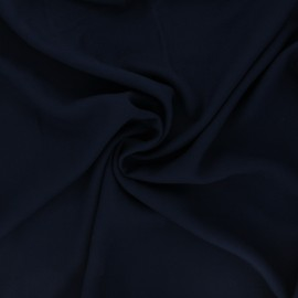 Plain viscose crepe fabric - navy blue x 10cm