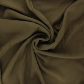 Plain viscose crepe fabric - khaki x 10cm