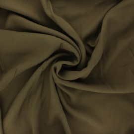 Tissu crêpe de viscose uni - kaki  x 10cm