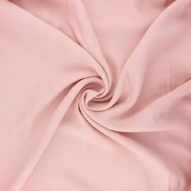 Tissu crêpe de viscose uni - rose perle x 10cm