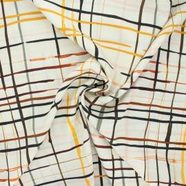Patterned viscose fabric - raw Jarod x 10cm