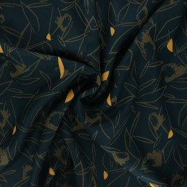 Tissu sergé de viscose Cactus - lagune x 10cm