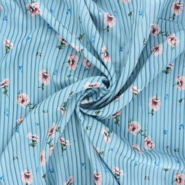Tissu viscose Sweet Elea - bleu clair x 10cm