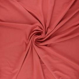 Tissu jersey viscose Anaya - terracotta x 10 cm
