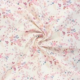 Tissu popeline satiné Atelier 27 Mini Scarlett - ivoire x 10cm