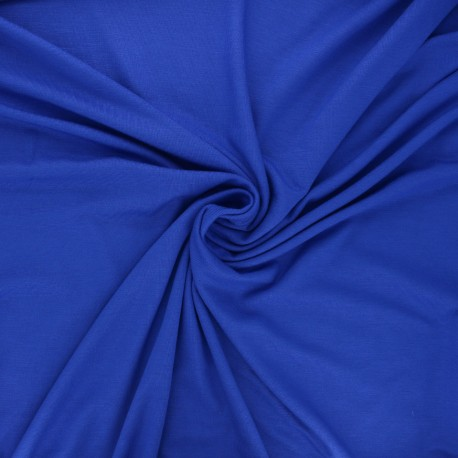 Tissu jersey viscose Anaya - bleu roi x 10 cm
