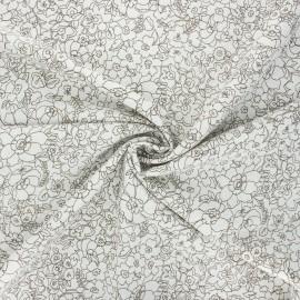 Tissu viscose lurex Atelier 27 Angèle - ivoire x 10cm