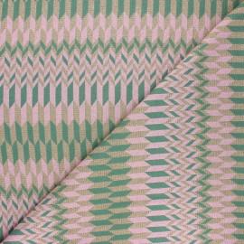 Tissu maille viscose lurex Brillanti love - vert foncé x 10cm