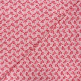 Tissu maille viscose lurex Sweet Brillanti - fuchsia x 10cm