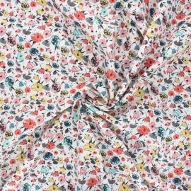 La Maison Victor poplin cotton fabric - off-white Jolies fleurs x 10cm