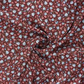 Tissu viscose La Maison Victor Paradis fleuri - acajou x 10cm