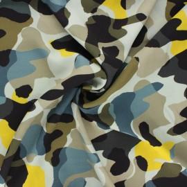 Viscose crepe fabric - light grey Pretty camo x 10cm