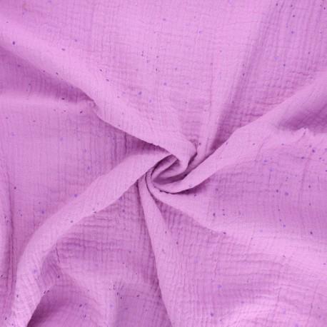 Rico Design double gauze cotton fabric - wisteria Transformation B x 10cm