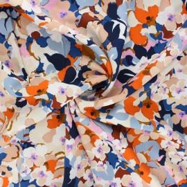 Tissu viscose La Maison Victor Flower pop - écru x 10cm