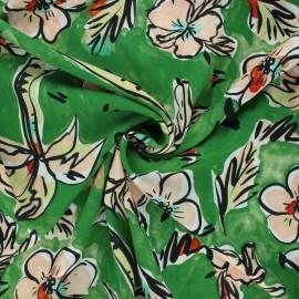 La Maison Victor viscose fabric - green Florida x 10 cm