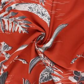 Tissu lin viscose La Maison Victor Ysaline - terracotta x 10 cm