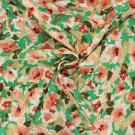 Tissu viscose lurex La Maison Victor Shiny peony - vert x 10cm