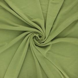 Tissu jersey modal fluide Sélian - vert mousse x 10cm