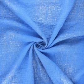 Tissu double gaze de coton Rico Design Transformation D - bleu x 10cm