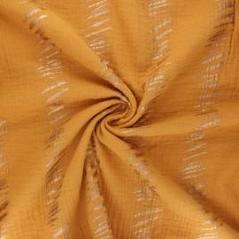 Rico Design double gauze cotton fabric - yellow mustard Transformation E x 10cm