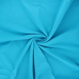 Tissu jersey Bio - turquoise x 10cm