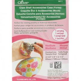 Medium size Clam shell accessories case (forms) - multicolored