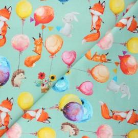 Tissu sweat léger Balloon party - vert sauge x 10cm