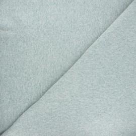 Jersey tubulaire bord-côte - vert sauge chiné x 10cm