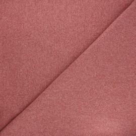 Jersey tubulaire bord-côte - bois de rose chiné x 10cm