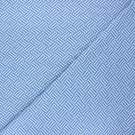 Jacquard knitted fabric - blue Basil x 10 cm