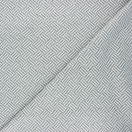 Jacquard knitted fabric - light grey Basil x 10 cm