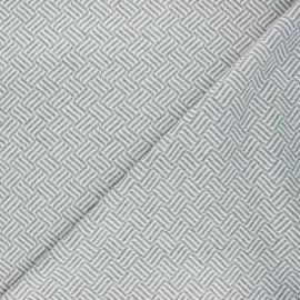 Tissu maille jacquard Basil - gris clair x 10 cm