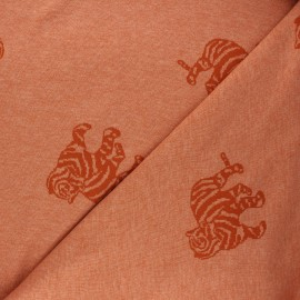 Tissu maille jacquard Minnie - orange x 10 cm