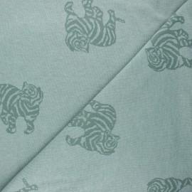 Tissu maille jacquard Minnie - eucalyptus x 10 cm