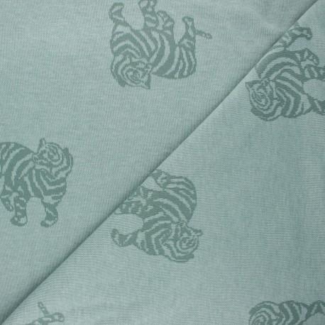 Jacquard knitted fabric - eucalyptus Minnie x 10 cm