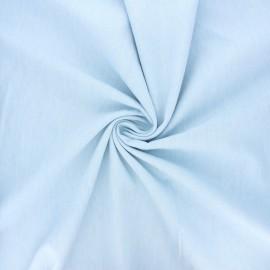Tissu coton chambray Debra - bleu clair x 10cm