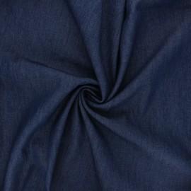 Chambray denim fabric - navy blue Debra x 10cm