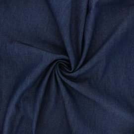 Tissu coton chambray Debra - bleu marine x 10cm