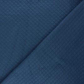 Tissu jersey matelassé losanges Debra - bleu x 10cm