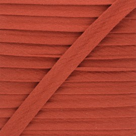 Cotton double gauze bias binding - terracotta x 1m