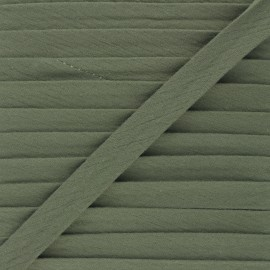 Cotton double gauze bias binding - khaki x 1m
