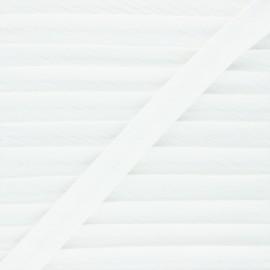 Biais double gaze de coton 20 mm - blanc cassé x 1m