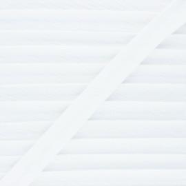 Biais double gaze de coton 20 mm - blanc x 1m