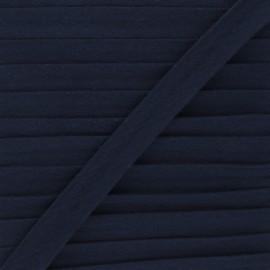 Biais double gaze de coton 20 mm - bleu marine x 1m