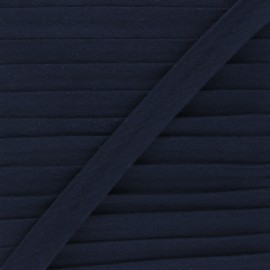Cotton double gauze bias binding - navy blue x 1m