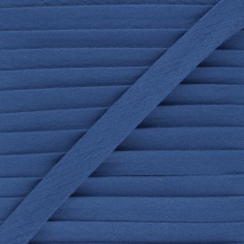 Cotton double gauze bias binding - blue x 1m