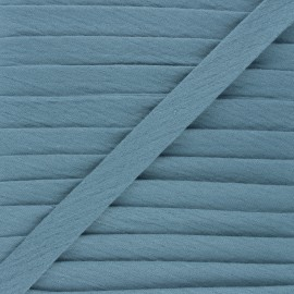 Cotton double gauze bias binding - swell blue x 1m