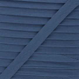 Cotton double gauze bias binding - storm blue x 1m