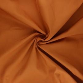 Satin poplin cotton fabric - ginger Alix x 10cm